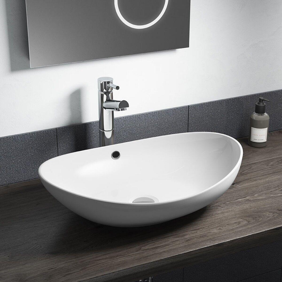 bathroom white oval basin sink bowl
