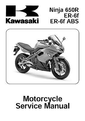 Kawasaki service manual 2009 Ninja 650R ER-6f & 2009 Ninja