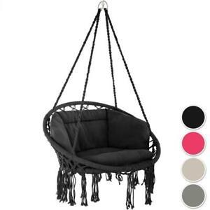 details sur fauteuil hamac suspendu exterieur jardin chaise design 1 place balancelle repos