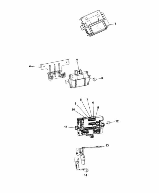 2014 Jeep Cherokee Body Control Module New OEM 68141879AJ