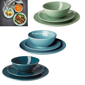 details zu dinnerware stoneware set dinning service plate bowl plain ikea fargrik 12 18 pcs