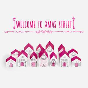 Adventskalender Set Häuser zum Basteln von 24 Tüten zum selber