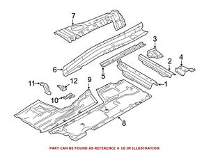 For BMW Genuine Floor Pan Heat Shield Bracket Left