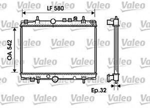 VALEO Engine Cooling Radiator Fits CITROEN C5 PEUGEOT 406