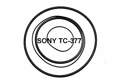 COURROIES SET SONY TC377 MAGNETOPHONE A BANDE EXTRA FORT