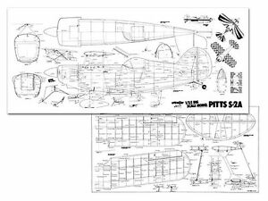 Pitts S-2a Full Size Model Airplane Kit Printed Plans 69