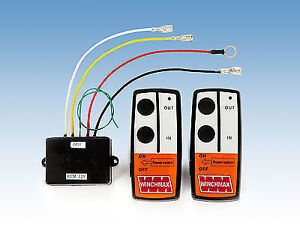 WIRELESS WINCH REMOTE CONTROL TWIN HANDSET 24V 24 VOLT EBay