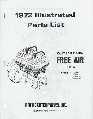 1972 ARCTIC CAT SNOWMOBILE ENGINE KAWASAKI T1A-R1A FREE