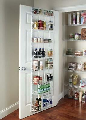 pantry door rack storage racks adjustable 8 tier wall door mount kitchen food ebay