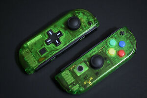 GREEN Clear Nintendo Switch Joy Con Controller MOD JoyCon Joy Cons D-PAD CUSTOM   eBay