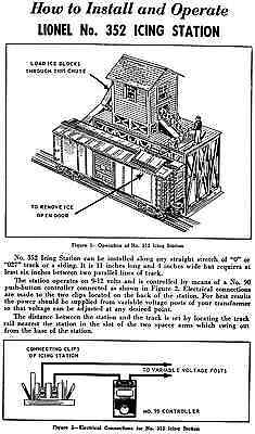 Copy of Lionel No. 352 Icing Station Instructions AND