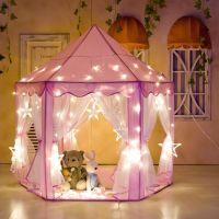Girls Pink Princess Castle Cute Playhouse Play Tent ...