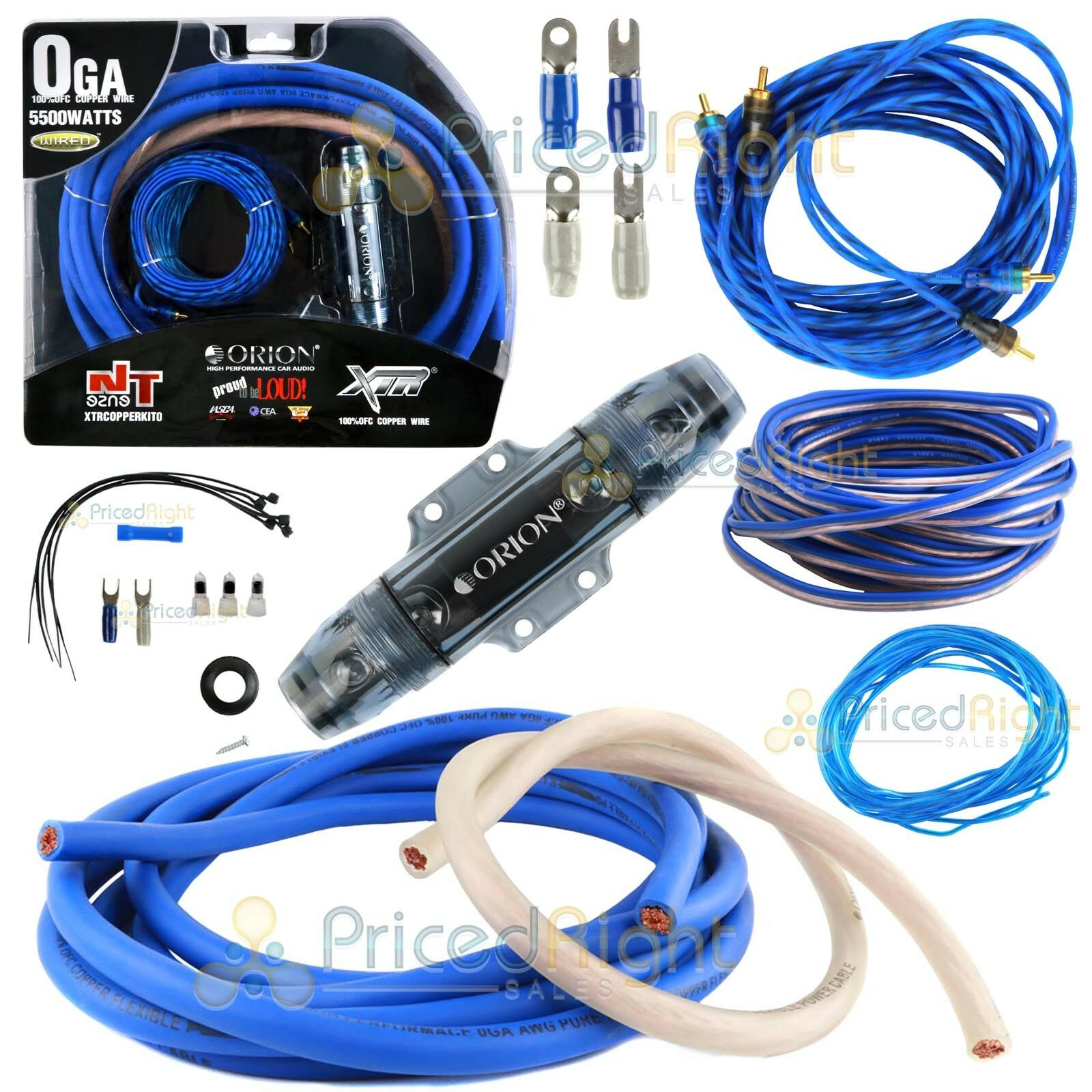 hight resolution of nvx true spec 1 0 gauge complete dual amp 100 copper wiring kit xapk1d for sale online ebay