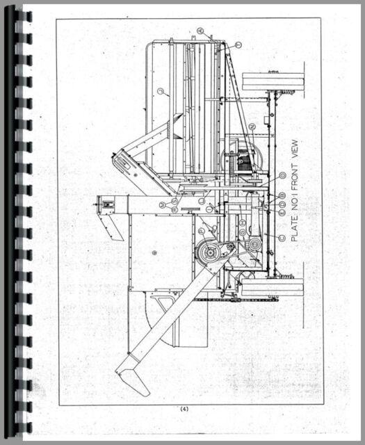 Allis Chalmers 60 Combine Operators Manual (SN# 86337