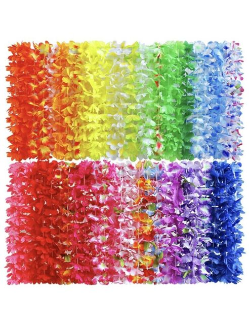 Christmas Leis : christmas, Hawaiian, Flower, Theme, Party, Favors, Counts, Necklaces, Christmas, Online