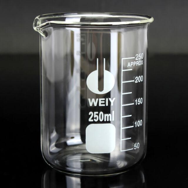 250ml borosilicate glass lab