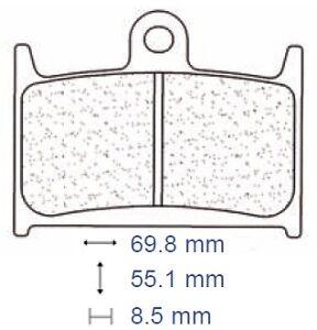 Brake pads pads carbone lorraine front suzuki gsf 1200 S