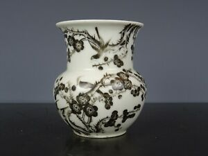 Very Nice Chinese Porcelain Ink Color Vase-Birds,Cha