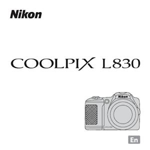 Nikon CoolPix L830 Digital Camera User Guide Instruction