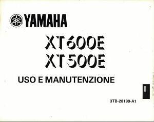 MANUALE LIBRETTO USO e MANUTENZIONE YAMAHA XT 600E XT500E