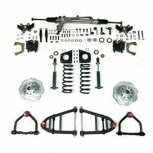 Mustang II IFS Kit with Power Steering for 55-57 Chevy Bel