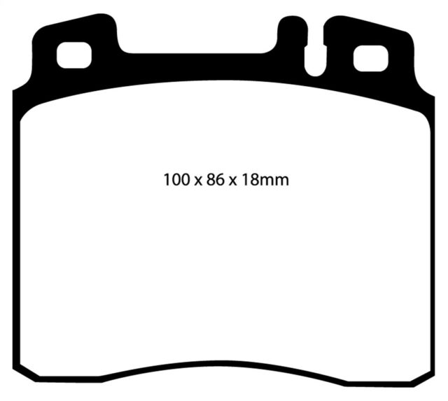 Disc Brake Pad Set-EBC Redstuff Ceramic Low Dust Brake
