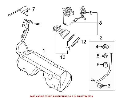For BMW Genuine Fuel Pump and Sender Assembly 16147363076