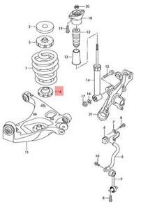 Genuine Spring support lower AUDI Audi A4 Avant S4 Cabrio