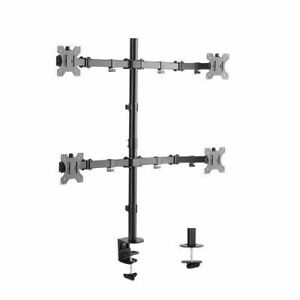 Quad Monitor Desk Mount Adjustable Clamp Stand Heavy Duty