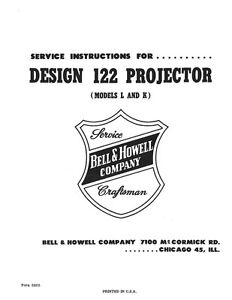 8mm Bell & Howell Projector Models 122-L and 122-K Service
