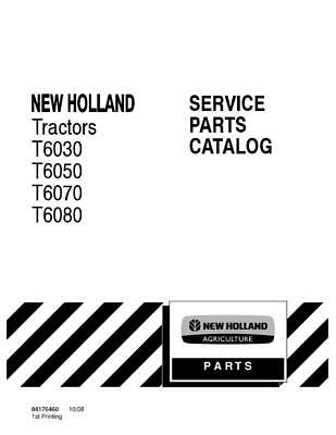 NEW HOLLAND T6030,T6050,T6070,T6080 TRACTORS PARTS CATALOG