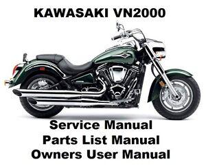 VN2000 VULCAN Owners Workshop Service Repair Parts List