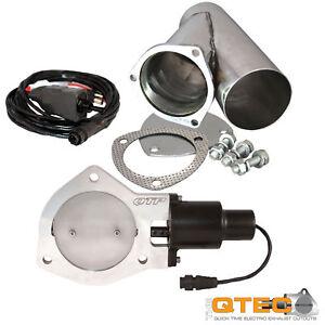 details about qtp qtec30cp quick time performance 3 electric exhaust cutout y pipe kit new