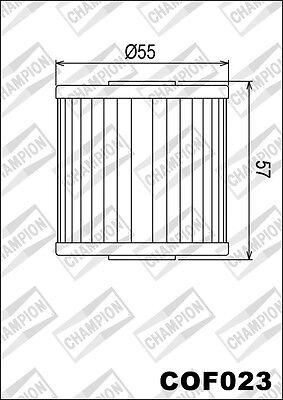 COF023 Oil Filter CHAMPION Kawasaki Atv KSF250 A5-A18