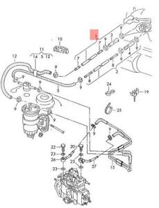 Genuine VW Polo Derby Vento-Ind fuel line feed 6N0201215A