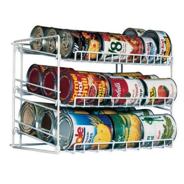 Can Rack Pantry Organizer Kitchen Cabinet Shelf Canned Food Soup Storage Holder 2