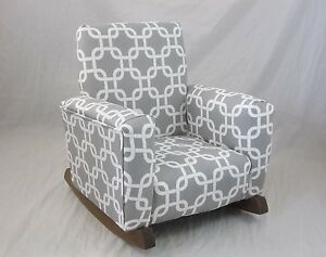 kids upholstered rocking chair and ottomon new childrens gotcha gray toddle rock for image is loading