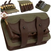 Leather Rifle Ammo Pouch Cartridge Holder 12 Gauge / 308 ...