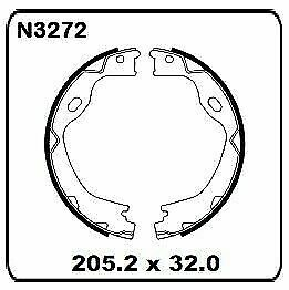 Jeep Grand Cherokee WK 2011 onwards REAR Handbrake Shoe