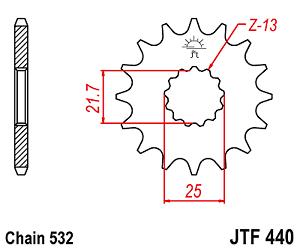 SUZUKI GSXR1100 WS-WW 1995-1998 JTF440 16 FRONT SPROCKET