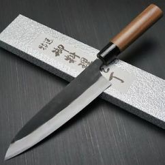 Japanese Kitchen Knife How To Update Laminate Cabinets Yamamoto Aogami Blue Steel 2 Gyuto Chef 180mm Image Is Loading