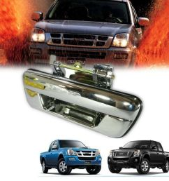 chrome tailgate handle rear door fit for isuzu dmax d max holden rodeo 2002 11 [ 960 x 960 Pixel ]