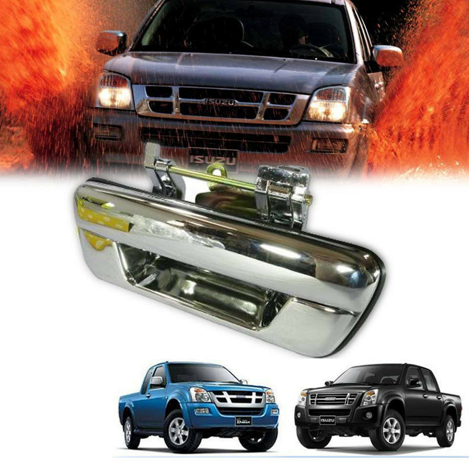 medium resolution of chrome tailgate handle rear door fit for isuzu dmax d max holden rodeo 2002 11