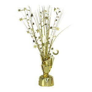 Gold Star Spray Table CENTREPIECE 50th Gold anniversary Table Decoration 13051736828  eBay