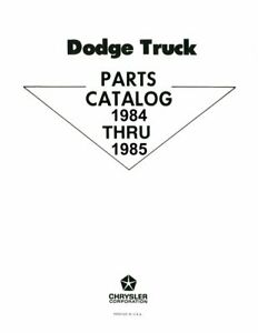 OEM Repair Maintenance Parts Book Loose Leaf Dodge Truck