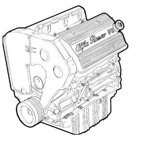 Alfa Romeo 164 3.0 V6 24V Semi-complete Engine (Brand New