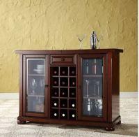 Home Mini Bar Liquor Cabinet Display Case Furniture Wood ...