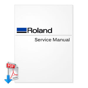 ROLAND VersaCamm VP-300 / VP-540 Service Manual (PDF File