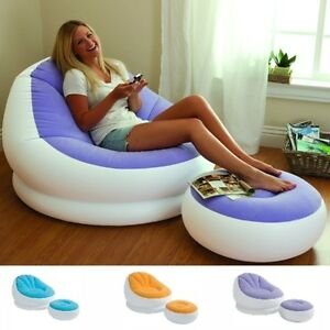 intex sofa chair size of a inflatable adult bean bag soft light beanless image is loading