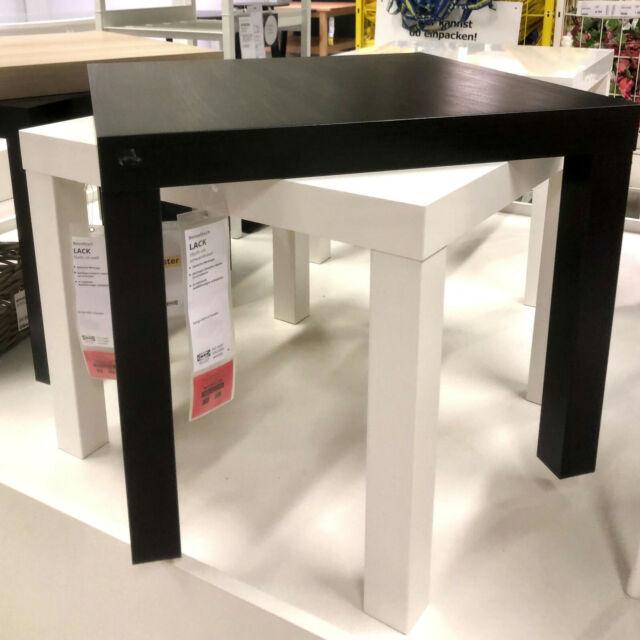 ikea table d appoint brun noir basse de television salon